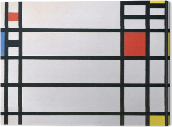 Leinwandbild Piet Mondrian - Trafalgar Square - Reproduktion