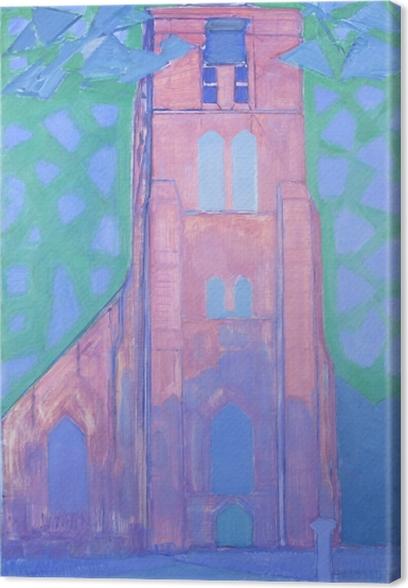Leinwandbild Piet Mondrian - Zeeländischer Kirchturm - Reproduktion