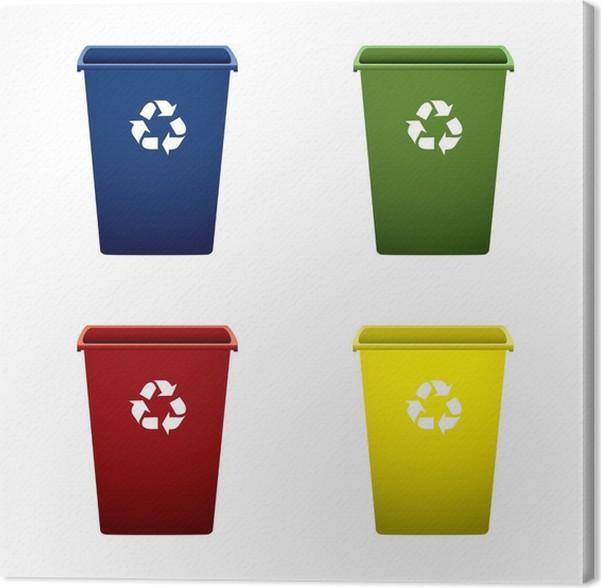 leinwandbild plastic recycling mülleimer pixers wir leben um