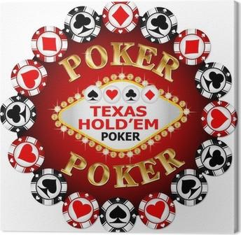 Leinwandbild Poker-Chips