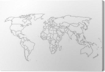 Leinwandbild Politische Weltkarte