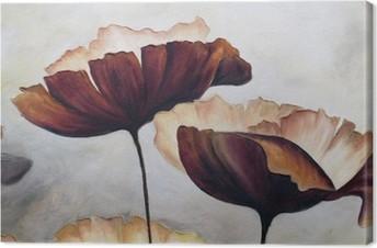 Leinwandbild Poppy abstrakte Malerei