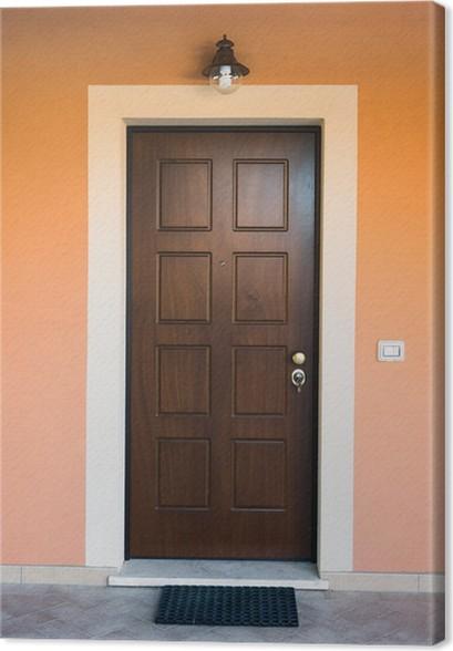 Leinwandbild Porta di legno ingresso di casa • Pixers® - Wir leben ...