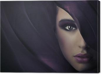 Leinwandbild Portrait einer jungen Schönheit, viel copy-space