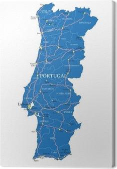 Azoren Karte.Leinwandbilder Azoren Pixers Wir Leben Um Zu Verändern