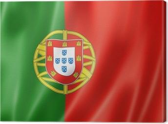 Leinwandbild Portugiesische Flagge