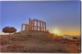 Leinwandbild Poseidon-Tempel, Kap Sounion, Griechenland