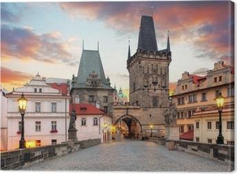 Leinwandbild Prag Blick von der Karlsbrücke