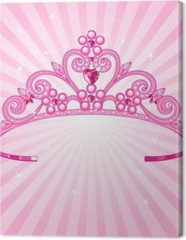 Leinwandbild Prinzessin Krone