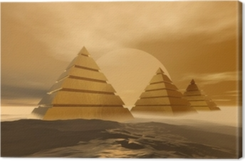Leinwandbild Pyramiden