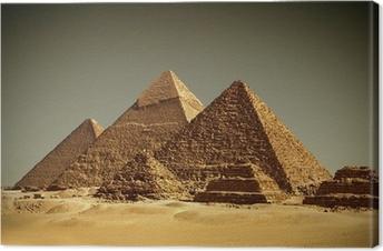 Leinwandbild Pyramides - Gizeh / Ägypten