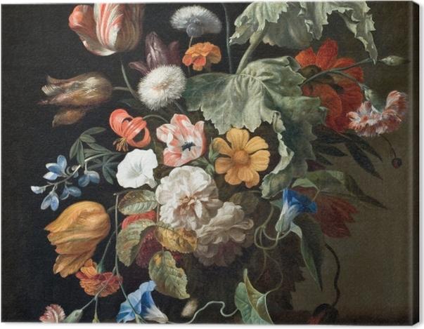 Leinwandbild Rachel Ruysch - Still-Life with Flowers - Reproduktion