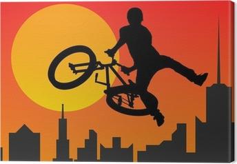 Leinwandbild Radfahrer