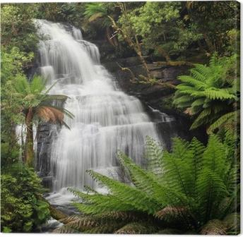 Leinwandbild Rainforest Waterfall