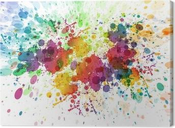 Leinwandbild Raster-Version von abstrakten bunten splash Hintergrund