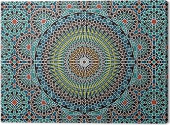 Leinwandbild Razil maurischen Seamless Pattern