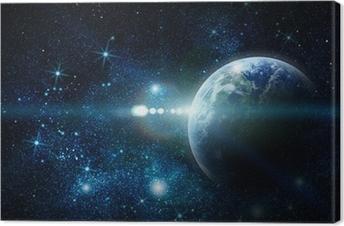 Leinwandbild Realistische Planeten Erde im Weltraum