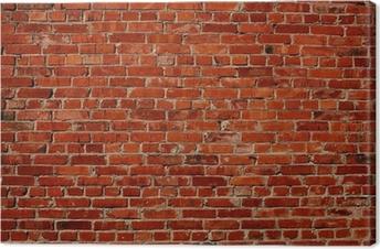 Leinwandbild Red brick wall