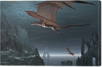Leinwandbild Red Dragon Islands