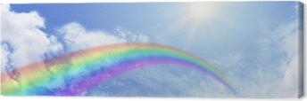 Leinwandbild Regenbogen-Website Banner-Header