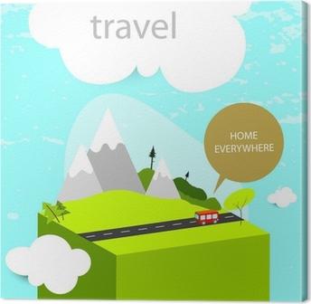 Leinwandbild Reise Hintergrund, Camping, Wandern