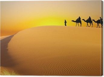 Leinwandbild Reisen mit dem Kamel
