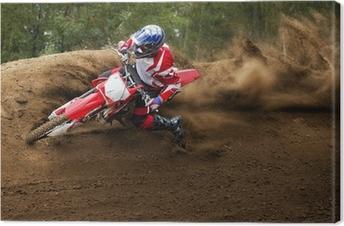 Leinwandbild Reiter Fahren in der Motocross-Rennen