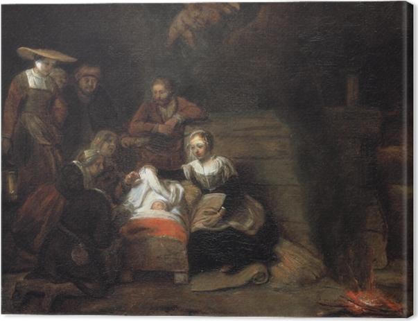 Leinwandbild Rembrandt - Anbetung der Hirten - Reproduktion