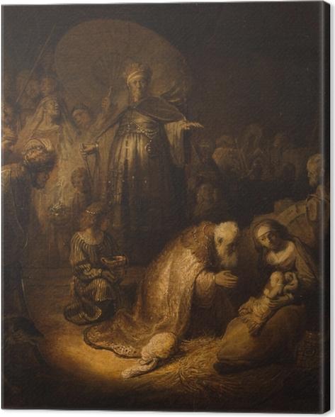 Leinwandbild Rembrandt - Anbetung der Könige - Reproduktion