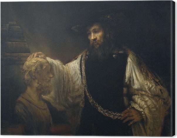 Leinwandbild Rembrandt - Aristoteles vor der Büste Homers - Reproduktion