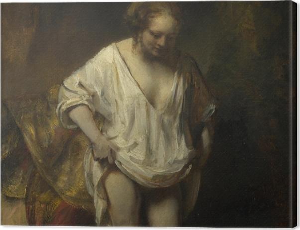 Leinwandbild Rembrandt - Badende Frau - Reproduktion