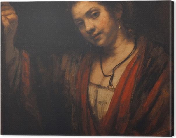 Leinwandbild Rembrandt - Bildnis der Hendrickje Stoffels - Reproduktion