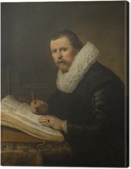 Leinwandbild Rembrandt - Bildnis eines Gelehrten - Reproduktion
