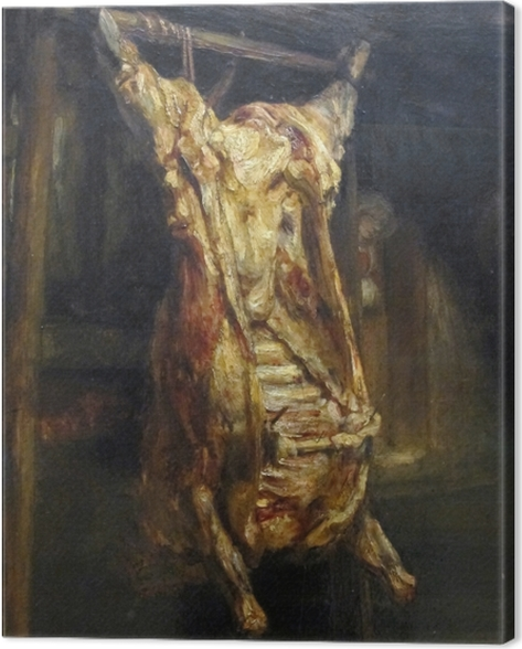 Leinwandbild Rembrandt - Der geschlachtete Ochse - Reproduktion