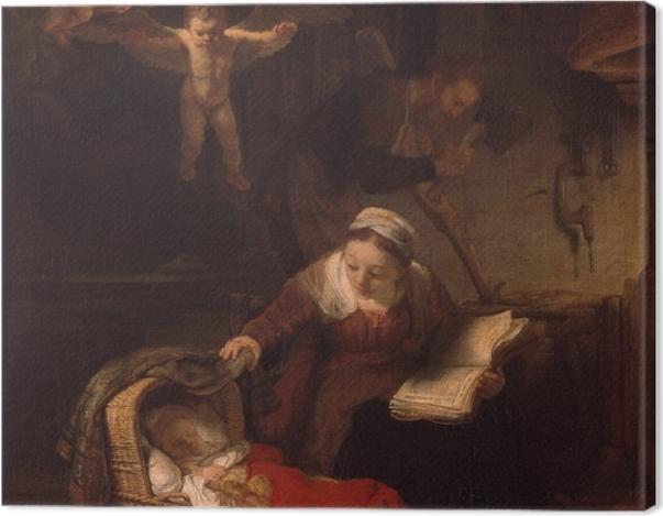 Leinwandbild Rembrandt - Die Heilige Familie - Reproduktion