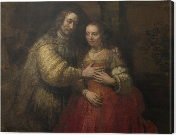 Leinwandbild Rembrandt - Die Judenbraut - Reproduktion