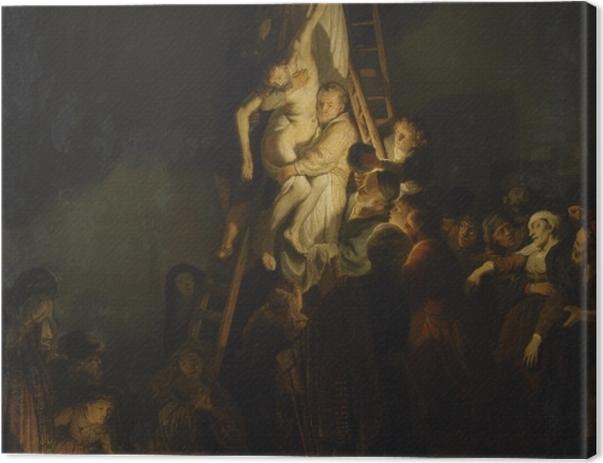 Leinwandbild Rembrandt - Die Kreuzabnahme - Reproduktion