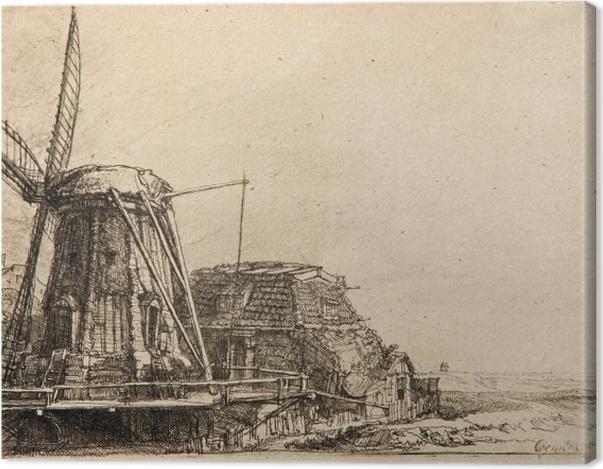 Leinwandbild Rembrandt - Die Mühle - Reproduktion