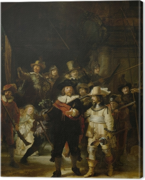 Leinwandbild Rembrandt - Die Nachtwache - Reproduktion