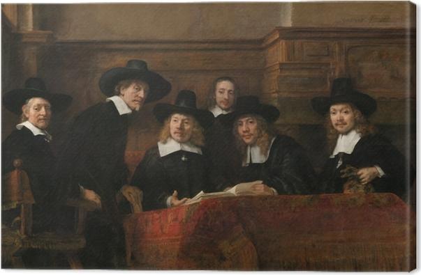 Leinwandbild Rembrandt - Die Vorsteher der Tuchmacherzunft - Reproduktion
