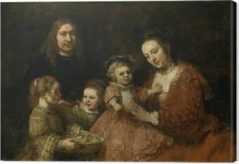 Leinwandbild Rembrandt - Familienbildnis