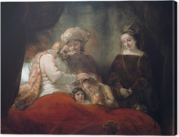 Leinwandbild Rembrandt - Jakobssegen - Reproduktion