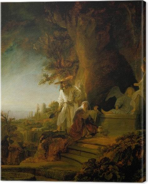 Leinwandbild Rembrandt - Noli me tangere - Reproduktion