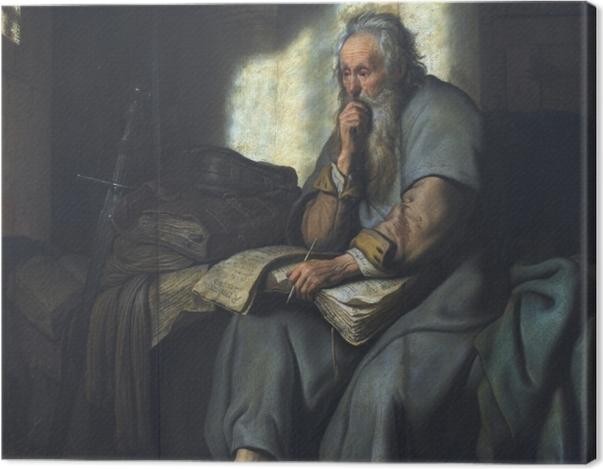 Leinwandbild Rembrandt - Paulus im Gefängnis - Reproduktion