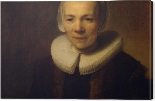 Leinwandbild Rembrandt - Porträt der Baertje Martens - Reproduktion