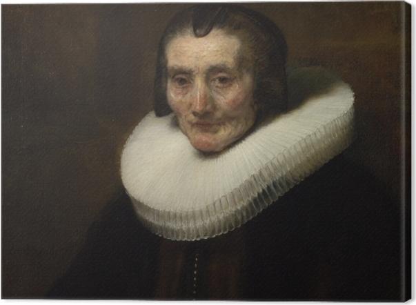 Leinwandbild Rembrandt - Porträt der Margaretha de Geer - Reproduktion