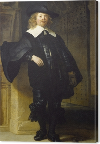 Leinwandbild Rembrandt - Porträt des Andries de Graeff - Reproduktion