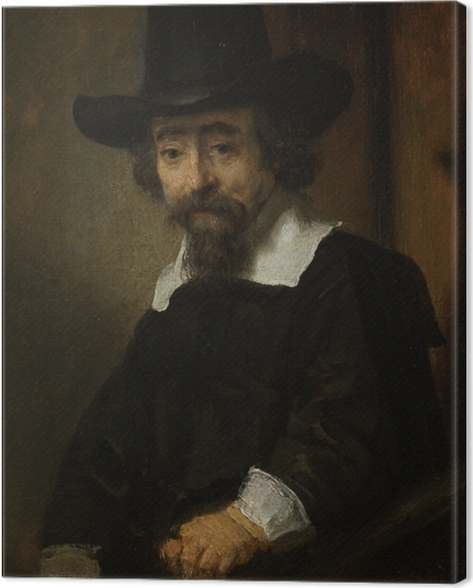 Leinwandbild Rembrandt - Porträt des Dr. Ephraïm Bueno - Reproduktion
