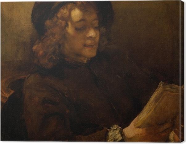Leinwandbild Rembrandt - Porträt des Titus, lesend - Reproduktion