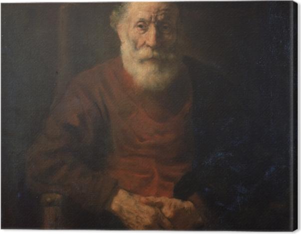 Leinwandbild Rembrandt - Porträt eines alten Mannes in Rot - Reproduktion